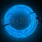 EL Neon Light Luminescent Striing Glow Rope Wire Tube Strip Battery Operated