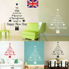 Christmas Tree Snow Diy Wall Sticker Decals Window Art Removable Home Decor Uk