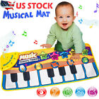 US STOCK Musical Music Kid Piano Play Baby Mat Animal Educational Soft Kick Toy