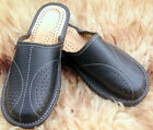 Mens Leather Slippers Slip On Shoes Moccasins Size 7 8 9 10 11 12 13 UK Mules