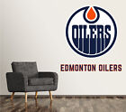 Edmonton Oilers Wall Decal Art Sticker Decor Vinyl NHL Hockey Logo SR235 $74.95 USD on eBay