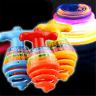 Colourful Light & Music Spring Gyro Peg-Top Spinning Tops Kids Children Toy-Gift