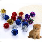 12Pcs Cat Mylar Crinkle Balls Kitten Interactive Sound Ball Funny Play Toys US
