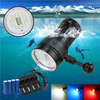 Scuba Diving Flashlight 12000LM 10xXM-L2+4xR+4xB LED Photography Video Torch