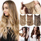 Elastic Halo'S No Clip in One Piece 3/4 Full Head Hair Extensions as Human Thick