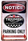 Triumph Motorcycle Retro Metal Tin Signs Vintage Cafe Pub Bar Garage Shop $20.14 AUD on eBay