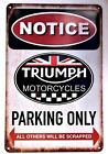 Triumph Motorcycle Retro Metal Tin Signs Vintage Cafe Pub Bar Garage Shop $12.99 USD on eBay