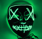 LED Mask Glow Full Face Mask EL Wire Light Up Mask Cosplay Rave Club Party Xmas