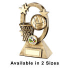 Netball Trophy, Free Engraving, Oval Stars Series 2 Sizes Netball Trophies