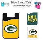 NFL Back of Phone Wallet Credit Card Holder Sleeve Case Chiefs+Packers+Seahawks $14.99 USD on eBay