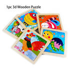 Gift 3D Puzzle Jigsaw Natural Wood Animal/Traffic Puzzles Wooden Cartoon
