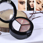 CA New Smoky Cosmetic Set 3 Color Pro Matte Makeup Eye Shadow Palette Glitter