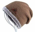 AKIZON Beanie Hat Cap Fall and Winter Warm Knit One Size Unisex Solid Color