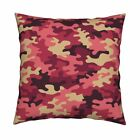 Camo Army Marine Throw Pillow Cover w Optional Insert by Roostery