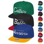NBA Mitchell & Ness Classic Script Throwback Snapback Hat Caps Collection