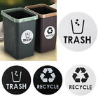 Trash And Recycle - Sticker Decals / Home And Office Kitchen Container Decor