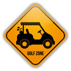 Golf Zone Warning Sign Car Bumper Sticker Decal - 3'' or 5''