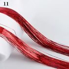 Hair Party Hair Tinsel Bling Silk Glitter Rainbow Color Hair Extension