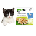 4-80 Tabs New Bayer Drontal for Cats & Kittens Tapeworm Deworming USA Seller