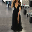 Women Bridesmaid Wedding Long Dress Evening Cocktail Party Ball Prom Gown Dress фото