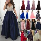 Women Bridesmaid Wedding Long Dress Evening Cocktail Party Ball Prom Gown Dress