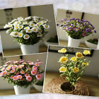CF89 8 Heads Artificial Flower Daisy DIY Crafts Wedding Home Living Room Decorat