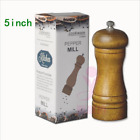 Kitchen Tools Cooking Salt and Pepper Grinder Hand Movement Oak Wood Pepper Mill photo