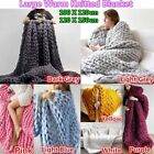 Extra thick Chunky Knitted Blanket Super Soft Bulky Throw Yarn Wool for Bed/Sofa image