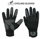 Men Cycling gloves Full Finger Bicycle Palm Gel Silicone Windproof Winter Gloves