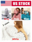DIY Chunky Wool Yarn Blanket Super Soft Bulky Arm Knitting Wool Bed Chair Mat US image