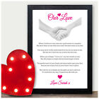 Our Love Personalised Anniversary Gifts for Her Him Girlfriend Boyfriend Wife
