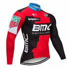 Men Cycling Long Sleeve Jersey Bib Road Bicycle Bike Shirt MTB Cuff Team Clothes