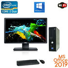 CLEARANCE! Fast Dell Desktop Computer PC Core 2 Duo WIN 10/7 LCD + KB +MS office