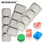 SILIKOLOVE 3 types 3D Soap Molds Silicone Handmade Non-stick Making Mold Craf...