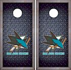 San Jose Sharks Cornhole Skin Wrap NHL Hockey Luxury Decal Vinyl Sticker DR425 $39.99 USD on eBay