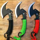 Tactical Zombie Tomahawk Throwing Fixed Blade Axe Hatchet Camping Survival Knife