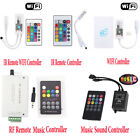 Smart WiFi Controller Music Control Remote For RGB/RGBW 5050 LED Strip Light +IR