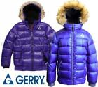 NEW GIRLS GERRY PUFFY 80/20 DOWN JACKET FAUX FUR LINED HOOD VARIETY SZ/CLRS