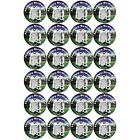Personalised Football BIRTHDAY Cup Cake Stand Up Toppers - Ayr Colours