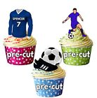 PRECUT Personalised Football Party Pack Cake Toppers Peterborough Colours