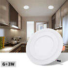 3 Mode Ultra thin Dual Color LED Recessed Ceiling Panel Down Light Lamp 85V-265V