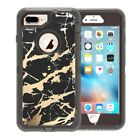Marble Defender Case For iPhone 6S/7/8 Plus XR/Max W/Screen & Clip Fits Otterbox