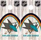 San Jose Sharks Cornhole Skin Wrap NHL Hockey Wood Decal Vinyl Sticker DR504 $39.99 USD on eBay