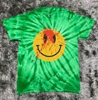 Used, Playboi Carti Die Lit Tour Tie Dye Smiley Face T-Shirt Green Yeezus Tour Travis for sale  Shipping to Canada