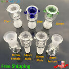 14mm 18mm Male Female Honeycomb Built-in Screen Glass Bowl Green Blue Clear