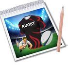 Rugby Notepads Party Bag Fillers Boys Girls Saracens Team Colours