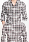 J Crew Mercantile Men's Heather Flannel 2 Pockets Long Sleeve Shirts,Pure Cotton