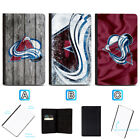 Colorado Avalanche Passport Holder Leather Cover Cards ID Travel Wallet $4.99 USD on eBay