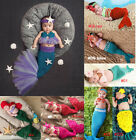 Newborn Baby Crochet Knit Costume Mermaid Series Photo Photography Prop Outfits