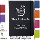 Teacher Thank You Gift Soft Feel Ruled Lined A6 Notebook Note Pad Personalised